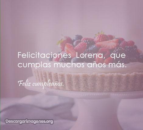 Imágenes feliz cumpleaños Lorena.