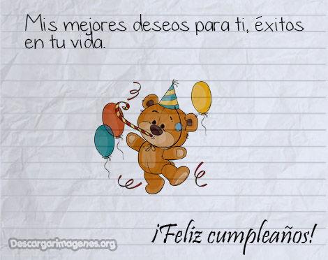 Mensajes con imágenes cumpleaños para alguien especial.
