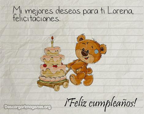 Pensamientos cumpleaños Lorena enviar.
